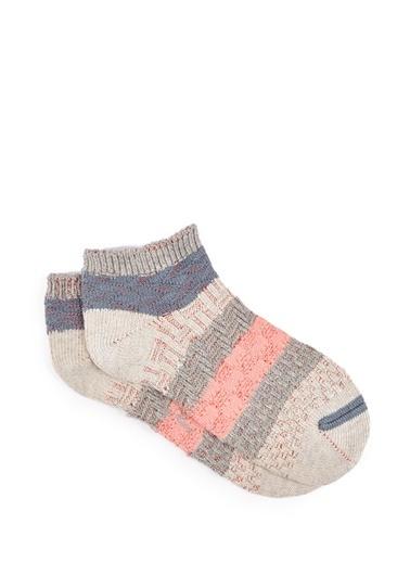 Mavi Patik Çorap Pembe